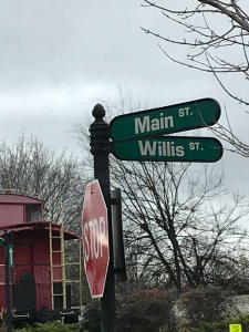Willis Street sign Around Acworth