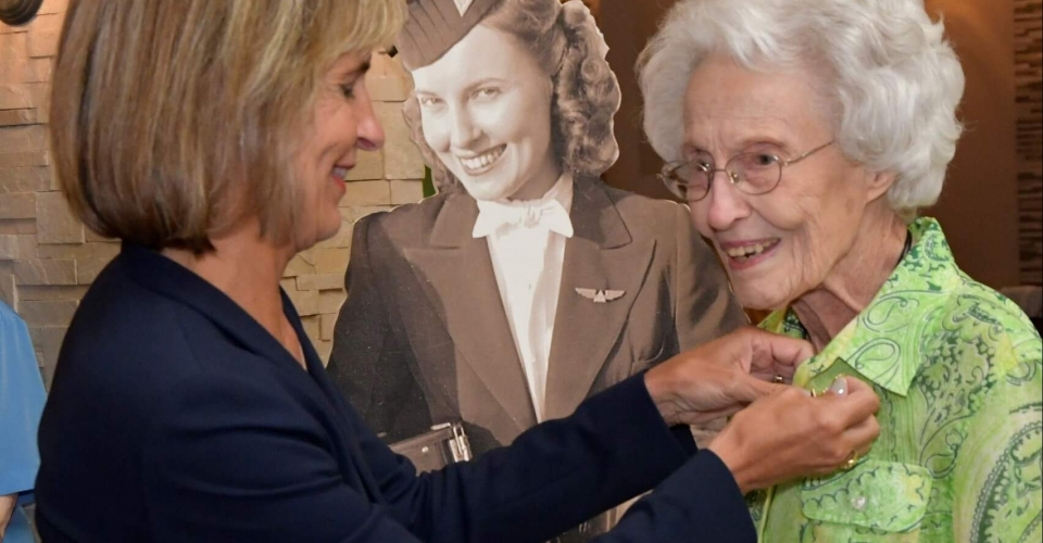 Pioneering Delta Flight Attendant Turns 102
