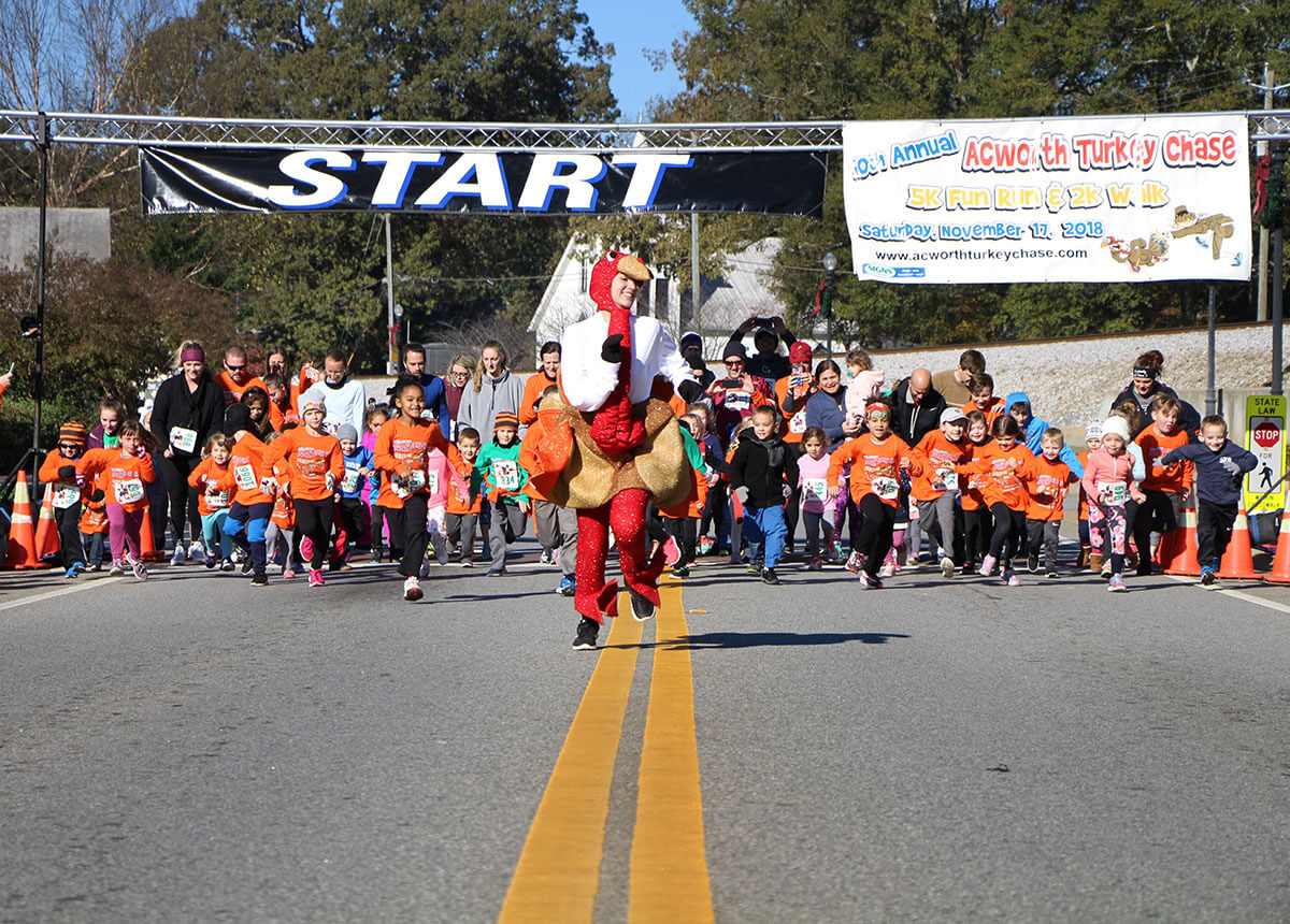 Turkey chase around acworth